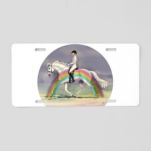 Rainbow Riding Aluminum License Plate