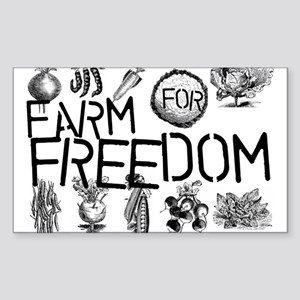 Farm for Freedom Sticker (Rectangle)