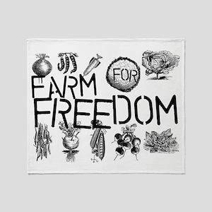 Farm for Freedom Throw Blanket