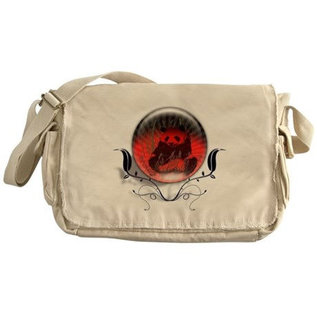 Panda Orb Red Messenger Bag