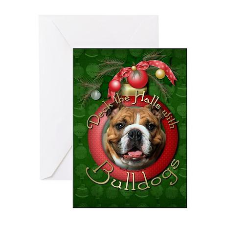 Christmas - Deck the Halls - Bulldogs Greeting Car