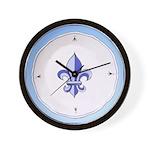 Fleur de Lis 2 Wall Clock