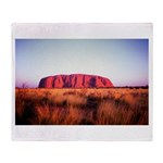 Uluru: Unique Moment Throw Blanket