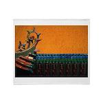 Buddhist Tile Work Throw Blanket