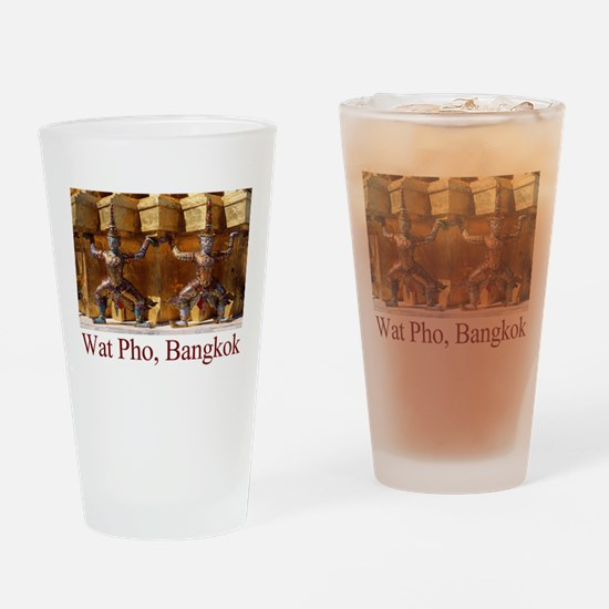 Wat Pho Figures Drinking Glass