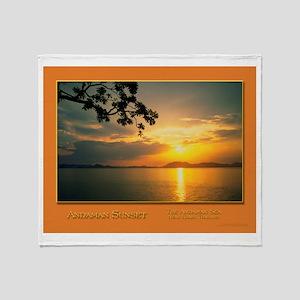 Andaman Sunset Throw Blanket
