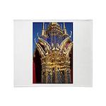 Azure Glass & Gold Throw Blanket