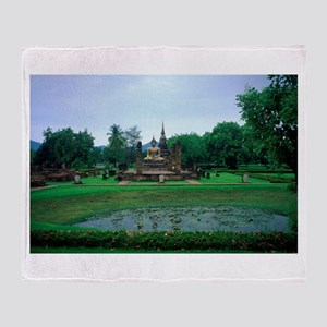 Buddha & Lotus Pool Throw Blanket