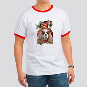 Christmas - Deck the Halls - Cavaliers Ringer T