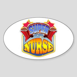 Super Nurse Sticker (Oval)