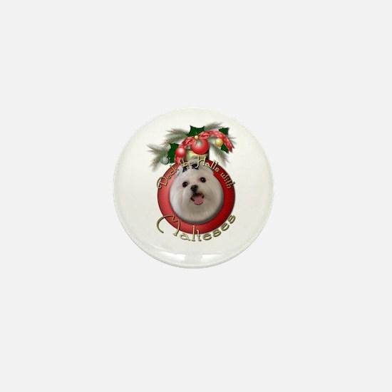 Christmas - Deck the Halls - Malteses Mini Button