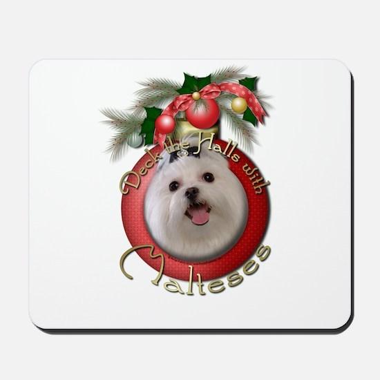Christmas - Deck the Halls - Malteses Mousepad