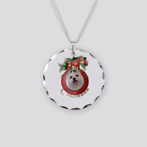 Christmas - Deck the Halls - Malteses Necklace Cir