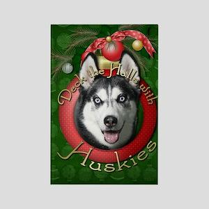 Christmas - Deck the Halls - Huskies Rectangle Mag