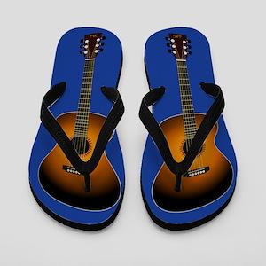 Acoustic Guitar Flip Flops (blue)