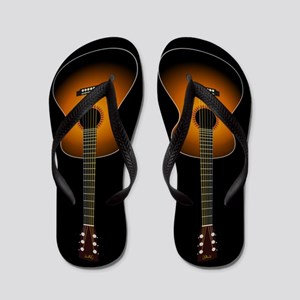 484738f93c806a Acoustic Guitar Flip Flops (black)