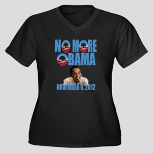No More Obama Women's Plus Size V-Neck Dark T-Shir