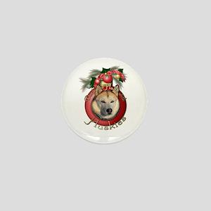 Christmas - Deck the Halls - Huskies Mini Button
