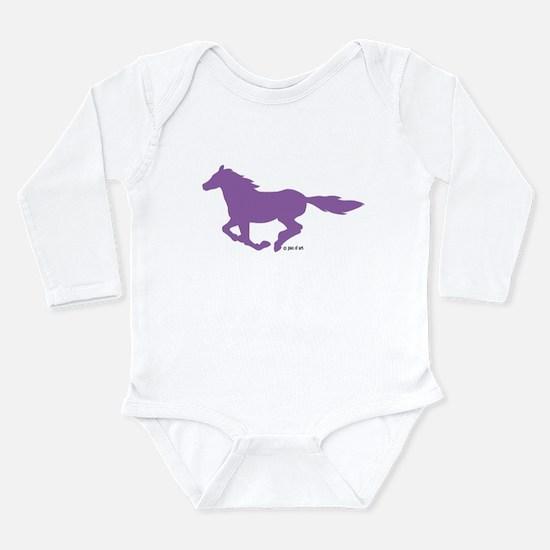 Horses Long Sleeve Infant Bodysuit