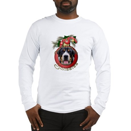 Christmas - Deck the Halls - Swissies Long Sleeve