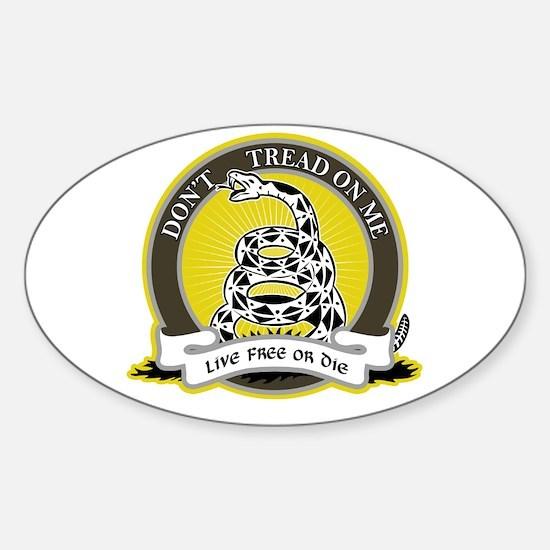 Don't Tread on Me Sticker (Oval)