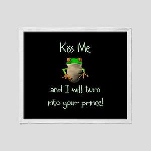 Prince Frog Throw Blanket