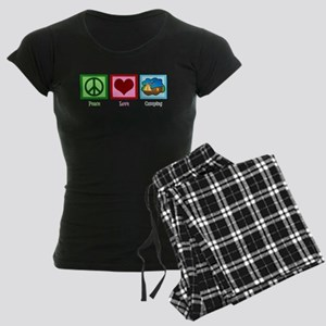 Peace Love Camping Women's Dark Pajamas