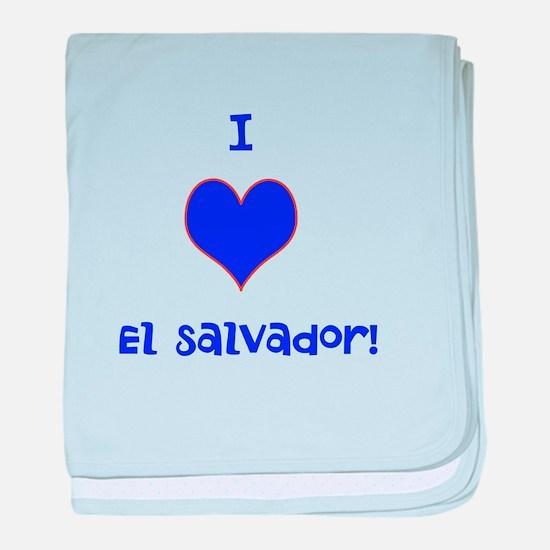 I Heart El Salvador Baby Blanket