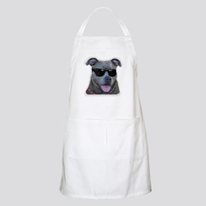 Pitbull in sunglasses Apron