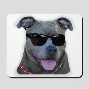 Pitbull in sunglasses Mousepad