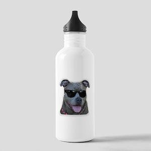 Pitbull in sunglasses Stainless Water Bottle 1.0L