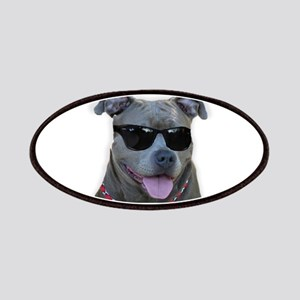 Pitbull in sunglasses Patches
