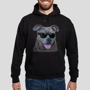Pitbull in sunglasses Hoodie (dark)
