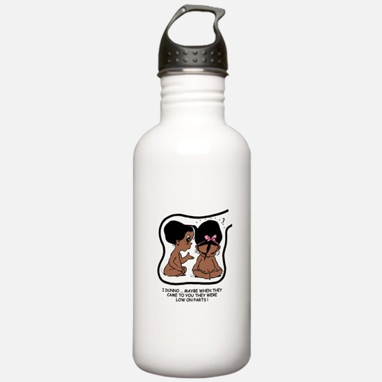 Dark-skinned EGGBERT Low on P Water Bottle