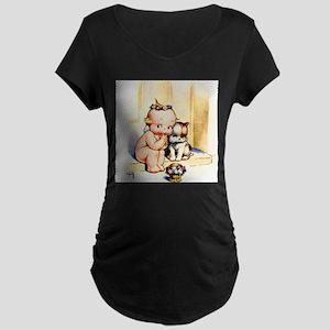 Puppy Love Maternity Dark T-Shirt