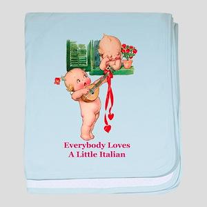 Everyone Loves a Little Italian baby blanket
