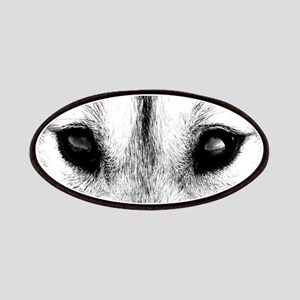 Wolf Pup Patch Sled Dog Husky Eyes Patches