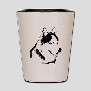 Siberian Husky Sled Dog Shot Glass