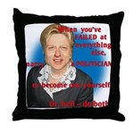 Billary Clinton Throw Pillow