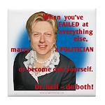Billary Clinton Tile Coaster