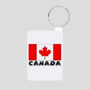 Canada Flag (World) Aluminum Photo Keychain