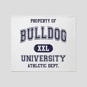 Bulldog University Throw Blanket