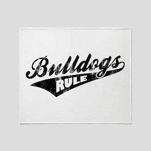 Bulldogs Rule Throw Blanket