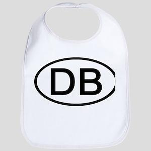 DB - Initial Oval Bib
