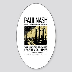 Paul Nash War Artist Sticker (Oval)