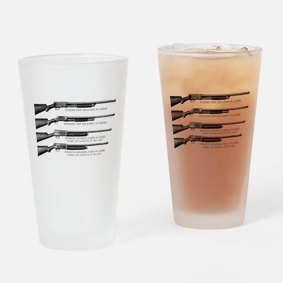 Shotguns Drinking Glass