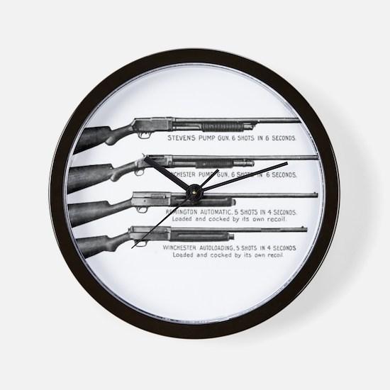 Shotguns Wall Clock