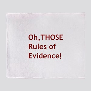 Rules of Evidence 2 Throw Blanket