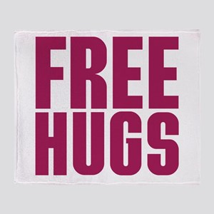 Free Hugs Throw Blanket