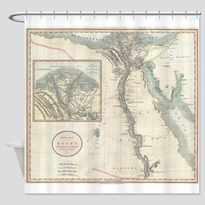 Vintage Map of Egypt (1805) Shower Curtain